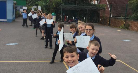 Year 5 - human number line