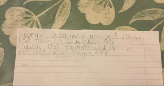 Who is George Stephenson?-Year 1-Online Learning